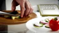 Cuting cucumber video