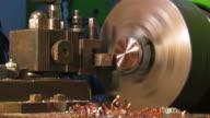 Cutter lathe processing copper parts video