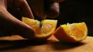 Cutting an orange video