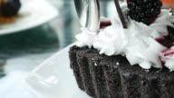 Cutting Cake Chocolate video