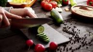 Cutting cucumber video