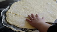 Cutting dough video
