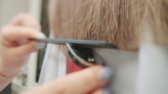 Cutting Hair, slow motion video