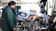 cutting iron in factory video
