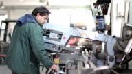 Cutting iron in metalworking video