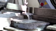 cutting iron with band saw video