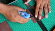 cutting leather video
