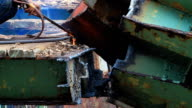 Cutting metal plates video