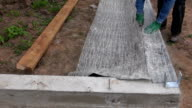 Cutting ruberoid for waterproofing foundation video