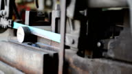 Cutting steel. video