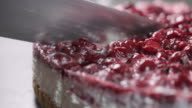 Cutting The Cheesecake Slow Motion 4K video