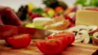 Cutting tomato. video