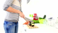 cutting vegetables video