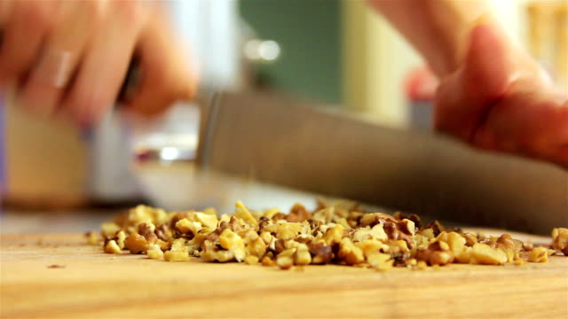 Cutting walnuts video