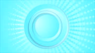 Cyan blue circles and halftone beams video animation video