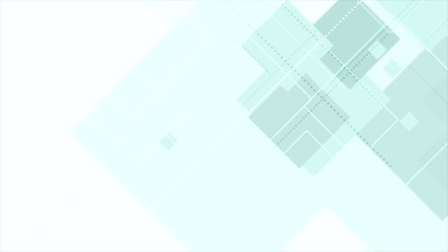 Cyan tech abstract geometric video animation video