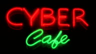 Cyber café. video