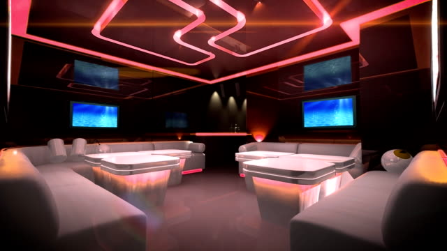 Cyber led light of Club Room video