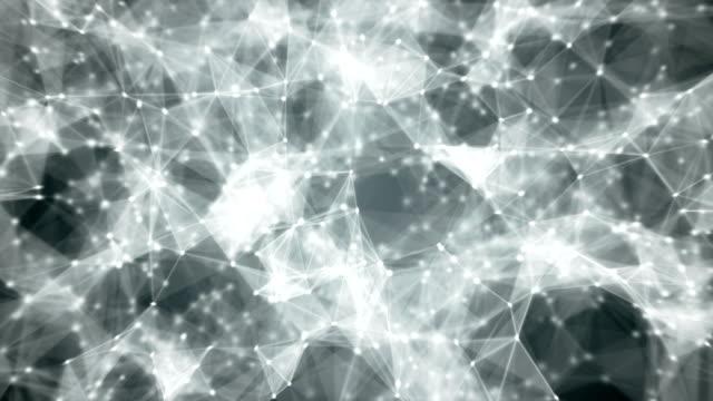 Cyber web. Abstract 3D render loop video