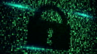 cyberspace digital lock loopable background video