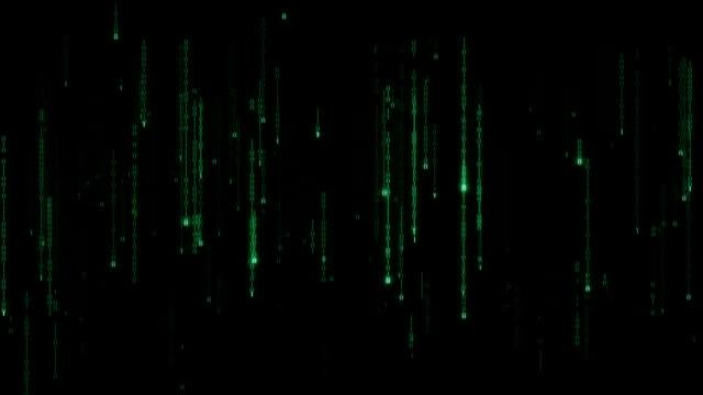 Cyberspace - loopable binary code rain video