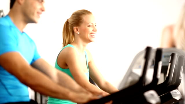Cycling in a gym. video