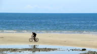 Cycling on the beach. video