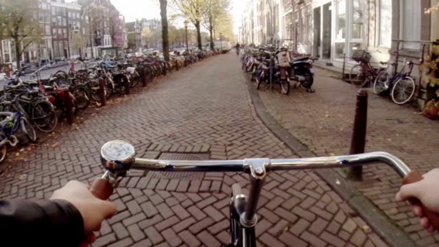 Cycling Through Historic Amsterdam Centre video