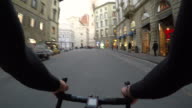 Cycling through the streets of Florence video