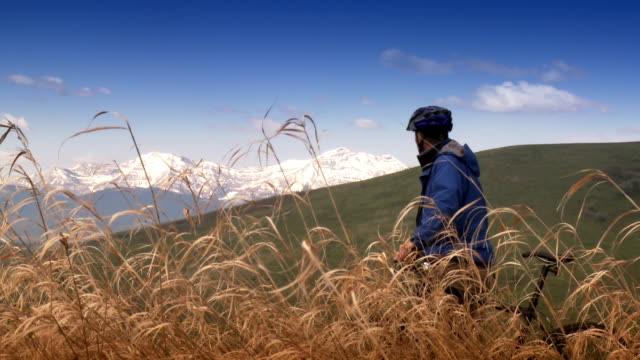 Cyclist Enjoys Scenic View video