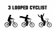 cyclist looped animation video