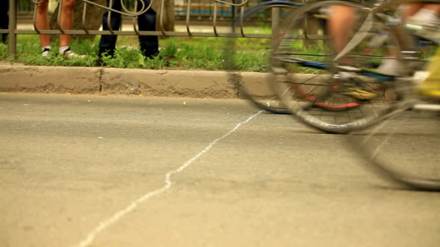 Cyclists on city streets video