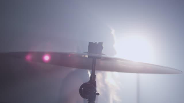 Cymbal closeup , slow motion video