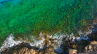 Cyprus, Ayia Napa. Aerial View. Beautiful landscape and sea waves video