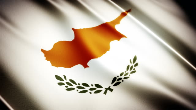 Cyprus realistic national flag seamless looped waving animation video