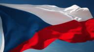 4K Czech Flag - Loopable video