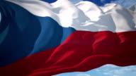 Czech Republic flag video