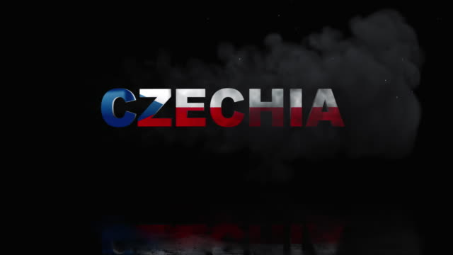 Czechia Flag On Title is Revealing with Fire video