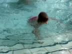 Dad Teaching Daughter to Swim video