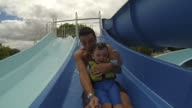 Daddy and Son At The Water Park video