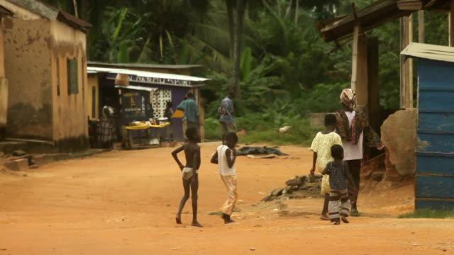 Daily Street Scene, Rural Africa. video