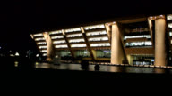 Dallas City Hall at night video