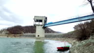 Dam on lake video
