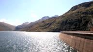 Dam on the Lukmanier Pass in Switzerland video
