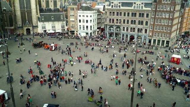 Dam Square in Amsterdam video