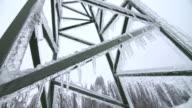 Damaged Electricity Pylon After Ice Storm video