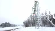 Damaged Electricity Pylon video