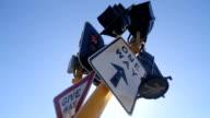 Damaged traffic light video