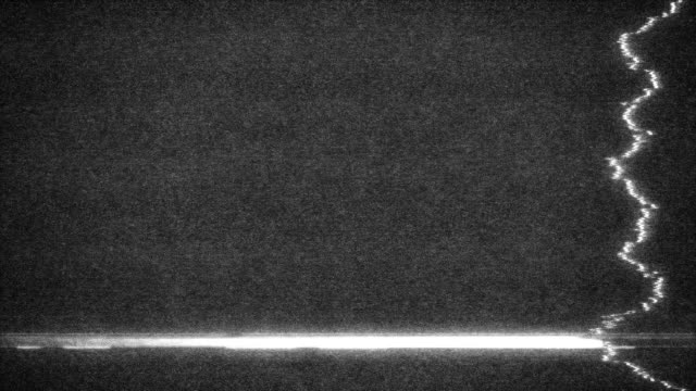 Damaged TV Monochromatic Static Background Loop video