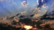 Damatic sunset sky video